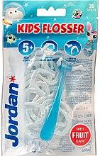 Düfte, Parfümerie und Kosmetik Mundpflegeset - Jordan Kids Flosser (Zungenreiniger 1St. + Refils 36 St.)