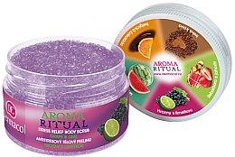 """Düfte, Parfümerie und Kosmetik Körper Scrub """"Trauben & Limette"""" - Dermacol Aroma Ritual Body Scrub Grape&Lime"""