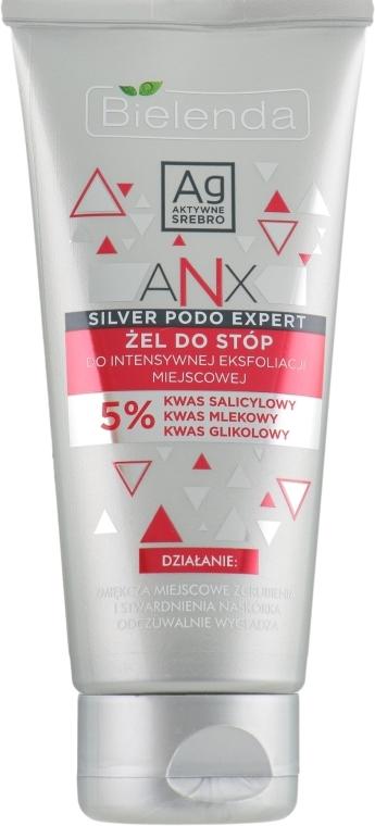 Entgiftendes Fußgel mit Hyaluron-, Milch- und Glycolsäure - Bielenda ANX Podo Detox Gel