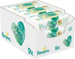 Düfte, Parfümerie und Kosmetik Feuchte Babytücher 9x42 St. - Pampers Pure Coconut