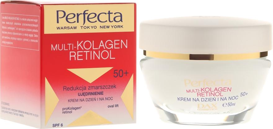 Straffende Anti-Falten Gesichtscreme mit Kollagen und Retinol 50+ SPF 6 - Dax Cosmetics Perfecta Multi-Collagen Retinol Face Cream 50+