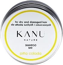 Düfte, Parfümerie und Kosmetik Festes Shampoo mit Piña Colada-Duft für trockenes und strapaziertes Haar in Metallbox - Kanu Nature Shampoo Bar Pina Colada For Dry And Damaged Hair