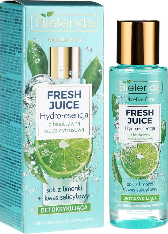 Entgiftende Gesichtsessenz mit Limette - Bielenda Fresh Juice Detoxifying Face Hydro Essence Lime