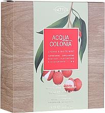Düfte, Parfümerie und Kosmetik Maurer & Wirtz 4711 Aqua Colognia Lychee & White Mint - Duftset (Eau de Cologne 50ml + Duschgel 75ml)
