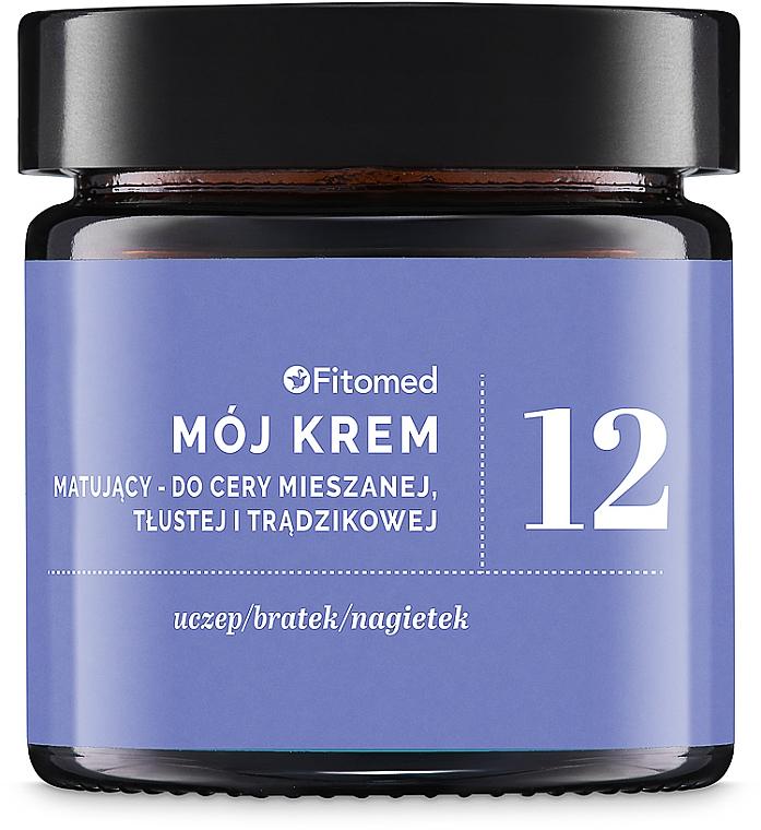 Mattierende Gesichtscreme für gemischte, fettige und zu Akne neigende Haut - Fitomed Herbal Cream Nr12