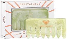 Düfte, Parfümerie und Kosmetik Haarkamm zur Kopfhautmassage aus Jade - Crystallove