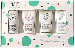 Düfte, Parfümerie und Kosmetik Körperpflegeset - Naif Baby Kit (Shampoo 15ml + Creme 15ml + Creme 15ml + Duschgel 15ml)