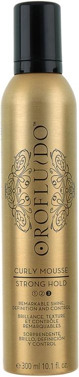 Styling-Mousse für lockiges Haar mit Arganöl - Orofluido Curly Mousse Strong Hold