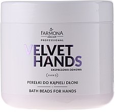 Düfte, Parfümerie und Kosmetik Badeperlen für die Handpflege mit Lilien- und Flieder-Duft - Farmona Professional Velvet Hands Bath Beads For Hands