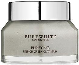 Düfte, Parfümerie und Kosmetik Klärende mattierende und porenverfeinernde Gesichtsreinigungsmaske mit französischem grünem Ton für fettige und Mischhaut - Pure White Cosmetics Purifying French Green Clay Mask