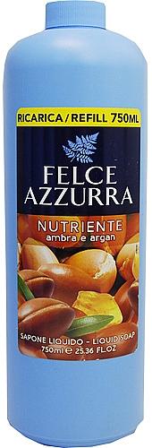 Pflegende Flüssigseife mit Amber und Argan - Felce Azzurra Nutriente Amber & Argan (Refill)