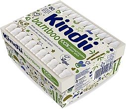 Düfte, Parfümerie und Kosmetik Wattestäbchen für Babies und Kinder - Cleanic Kindi Bamboo Cotton Buds