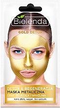 Düfte, Parfümerie und Kosmetik Detox Gesichtsmaske für reife und empfindliche Haut - Bielenda Gold Detox Metallic Mask