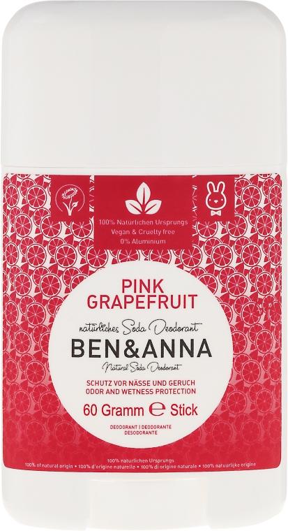 Natürlicher Soda Deostick Pink Grapefruit - Ben & Anna Natural Soda Deodorant Pink Grapefruit