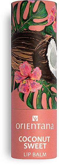 Aufweichender, pflegender und feuchtigkeitsspendender Lippenbalsam mit Kokosnussöl - Orientana