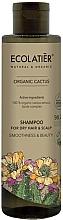 Düfte, Parfümerie und Kosmetik Glättendes Shampoo mit Bio Kaktus-Extrakt und Lipidkomplex für trockenes Haar - Ecolatier Organic Cactus Shampoo For Dry Hair And Scalp