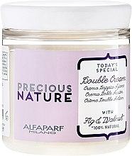 Düfte, Parfümerie und Kosmetik Regenerirende Haarcreme für geschädigtes Haar mit Feigen- und Walnussextrakt - Alfaparf Precious Nature Double Cream