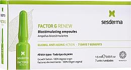 Düfte, Parfümerie und Kosmetik Anti-Aging Gesichtsampullen für alle Hauttypen - SesDerma Laboratories Factor G Renew Biostimulating Ampoules Anti-Ageing Action