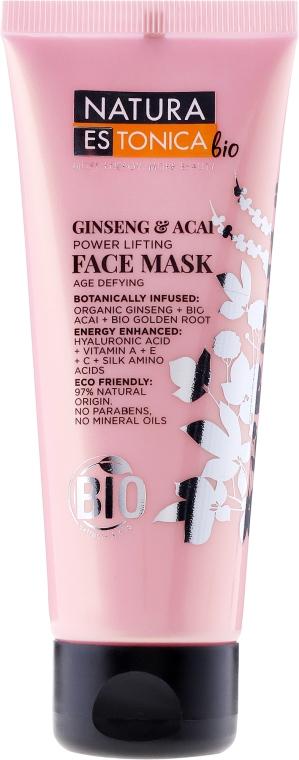 Energetisierende Lifting-Gesichtsmaske mit Bio Ginseng und Bio Acai - Natura Estonica Ginseng & Acai Face Mask