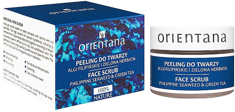 Gesichtsgel Peeling mit philippinischem Algen- und Grüntee - Orientana Natural Gel Face Scrub Philippine Seaweed & Green Tea