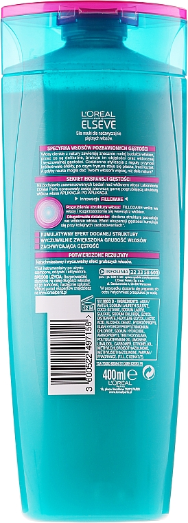 Haarpracht-Aufbauendes Shampoo - L'Oreal Paris Elseve — Bild N4