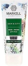 Düfte, Parfümerie und Kosmetik Gesichtsmaske mit Pfirsich- und Apfelextrakt - Markell Cosmetics Skin&City Face Mask