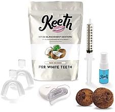 Düfte, Parfümerie und Kosmetik Aufhellendes Zahnpflegeset mit Kokosgeschmack - Keeth Coconut Teeth Whitening Kit