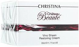 Düfte, Parfümerie und Kosmetik Wiederherstellende Gesichtscreme mit Weintraubenextrakt - Christina Chateau de Beaute Vino Sheen Restoring Cream