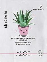 Düfte, Parfümerie und Kosmetik Regenerierende und feuchtigkeitsspendende Tuchmaske mit Aloeextrakt - Beauty Kei Micro Facialist Boosting Aloe Essence Mask