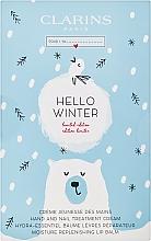 Düfte, Parfümerie und Kosmetik Gesichts- und Körperpflegeset - Clarins Hello Winter (Hand- und Nagelcreme 30ml + Lippenbalsam 15ml)