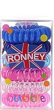 Düfte, Parfümerie und Kosmetik Haargummis Farb-Mix 6 St. №4 - Ronney Professional Funny Ring Bubble 4