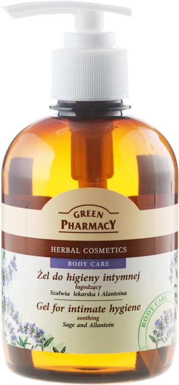 Beruhigendes Gel zur Intimhygiene mit Salbei und Allantoin - Green Pharmacy