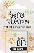 "Düfte, Parfümerie und Kosmetik Bio-Lippenbalsam ""Pfirsich"" - Marilou Bio Certified Organic Lip Balm Peach"