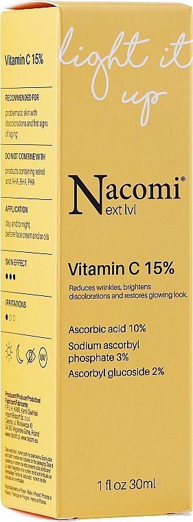 Aufhellendes Anti-Falten Gesichtsserum mit 15% Vitamin C - Nacomi Next Level Vitamin C 15%