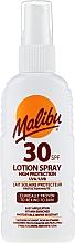 Düfte, Parfümerie und Kosmetik Lotion-Spray für den Körper mit Sonnenschutz SPF 30 - Malibu Sun Lotion Spray High Protection Water Resistant SPF 30