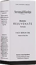 Düfte, Parfümerie und Kosmetik Verjüngendes Gesichtsserum für trockene und reife Haut - AromaWorks Rejuvenate Face Serum Oil