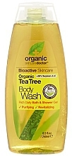 Düfte, Parfümerie und Kosmetik Duschgel mit Teebaumextrakt - Dr. Organic Bioactive Skincare Tea Tree Body Wash
