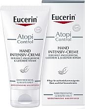 Düfte, Parfümerie und Kosmetik Handcreme für angegriffene, trockene, spröde Haut - Eucerin AtopiControl Intensiv Hand Creme