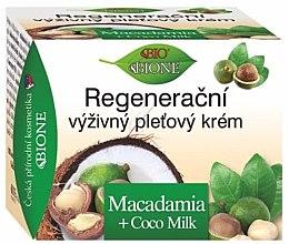 Düfte, Parfümerie und Kosmetik Regenerierende Gesichtscreme mit Macadamia und Kokosmilch - Bione Cosmetics Macadamia Face Cream