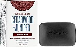 Düfte, Parfümerie und Kosmetik Parfümierte Körperseife - Schmidt's Naturals Bar Soap Cedarwood Juniper With Charcoal