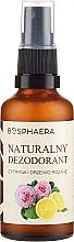 Düfte, Parfümerie und Kosmetik Natürliches Deodorantspray mit Zitrone und Rosenholz - Bosphaera