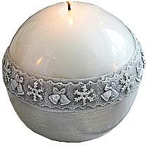 Düfte, Parfümerie und Kosmetik Dekorative Kerze in Kugelform weiß 10 cm - Artman Christmas Time