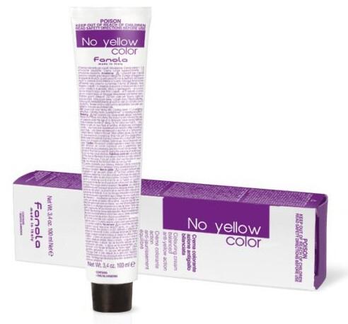 Färbecreme für naturblondes, ergrautes, gefärbtes und aufgehelltes Haar gegen Gelbtöne - Fanola No Yellow Color Toner