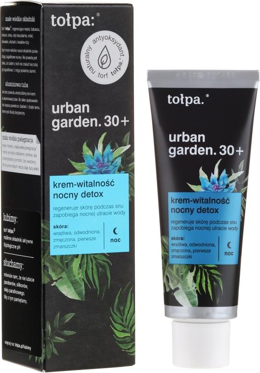 "Nachtcreme ""Detox"" 30+ - Tolpa Urban Garden 30+ Detox Night Cream"