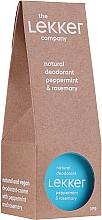 Düfte, Parfümerie und Kosmetik Natürliches Creme-Deodorant Minze und Rosmarin - The Lekker Company Natural Deodorant