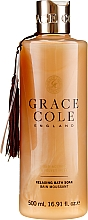 Düfte, Parfümerie und Kosmetik Entspannender Badeschaum mit Oud und Moschus - Grace Cole Boutique Oud Accord & Velvet Musk Relaxing Bath Soak