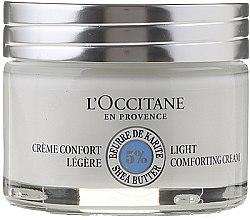Düfte, Parfümerie und Kosmetik Leichte pflegende Gesichtscreme mit Sheabutter - L'occitane Light Face Cream