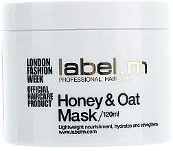 Düfte, Parfümerie und Kosmetik Nährende Haarmaske mit Honig und Hafer - Label.m Nourishing Mask Honey and Oats