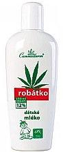 Düfte, Parfümerie und Kosmetik Körpermilch für Kinder mit Cannabis für empfindliche Haut - Cannaderm Robatko