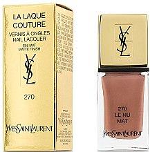 Düfte, Parfümerie und Kosmetik Matter Nagellack - Yves Saint Laurent La Laque Couture The Mats